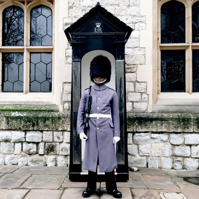 Guard at the Tower of London