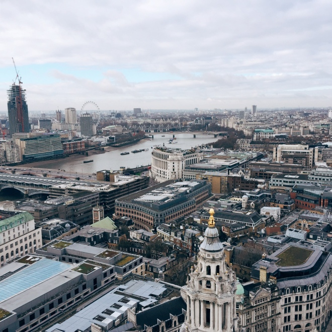 London seen from the Golden Gallery at St. Paul's... The view was definitely worth the 528 stairs walked up to get there!