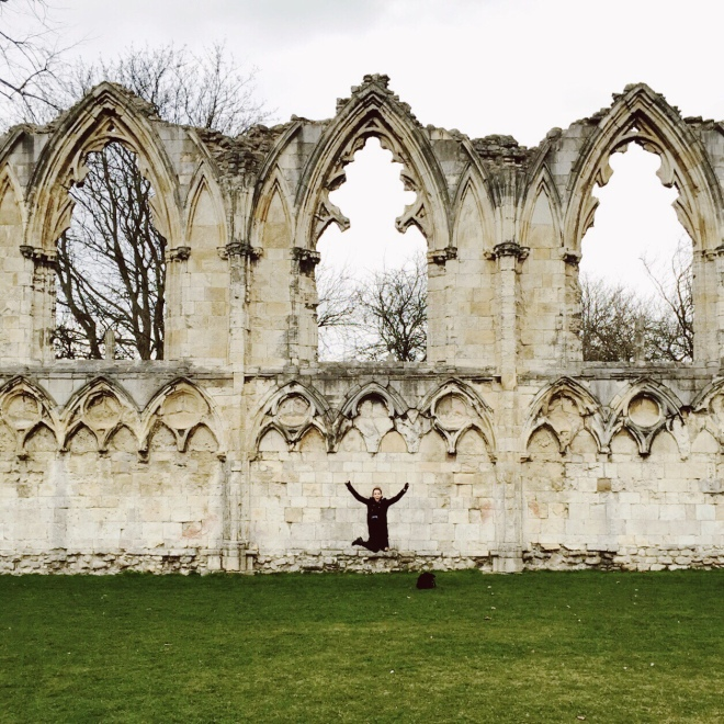 St Mary's Abbey Ruins, built in 1294, is 694 years older than Phoebe.