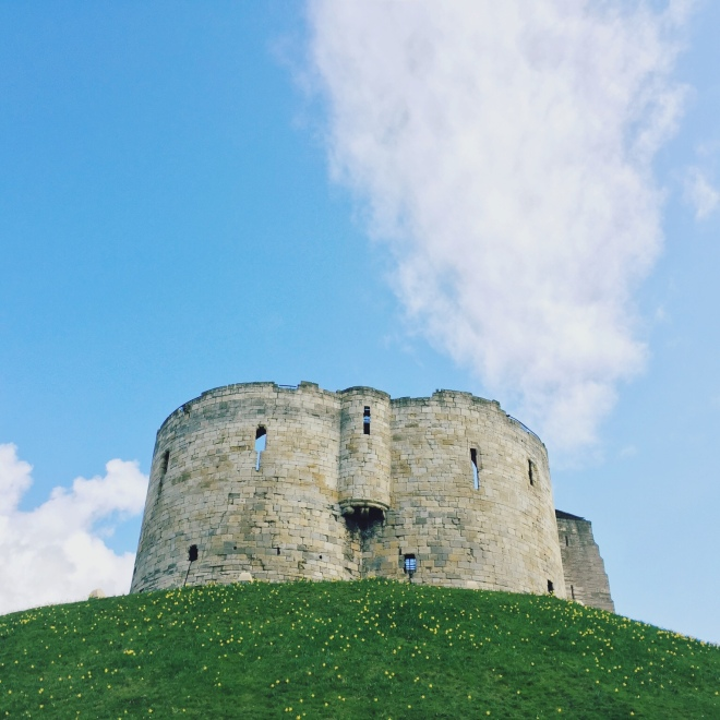 Clifford's Tower dates back to the 13th century. The previous tower was burnt down after York's Jewish community was surrounded by a mob and committed mass suicide. It's been a prison, a treasury, ruins, apartments and now serves as a museum. So. Much. History.