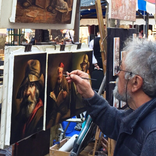 In the markets in Montmartre are some great artists, where you stand there and try and process the fact that they are creating these incredible works of art in front of you. I've never been able to draw / paint, so the whole process really baffles me.