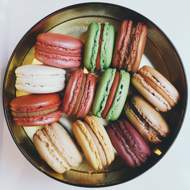 Phoebe had a sweets bucket list, full of sugary culinary delights around Paris. These Macarons from Le Café Pouchkine transcended all the macrons ever made in the world, ever.
