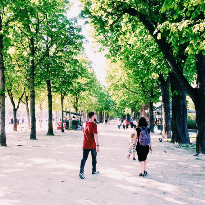 Strolling through Champs Elysees. More impeccable parks, followed by the shopping strip.