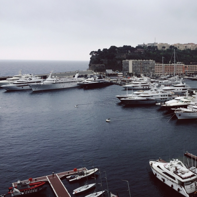 This is Monaco, where the 1% find creative ways to spend their money. The torrential rain made it impossible to enjoy the city to its full potential, but it was still worth a visit.