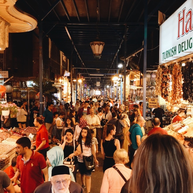 Of the two markets, we preferred the Egyptian Spice Market! Both of us could accurately be described as foodies, so this place was incredible! All the spices, Baklava and Turkish Delight... It was immense and intense and all things wonderful.